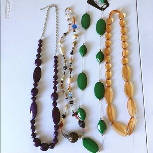 Jewelry - 4 Long Multi-Colored Fast Fashion Necklaces